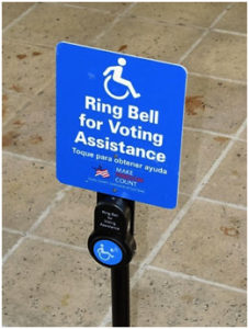 Voting Assistance sign